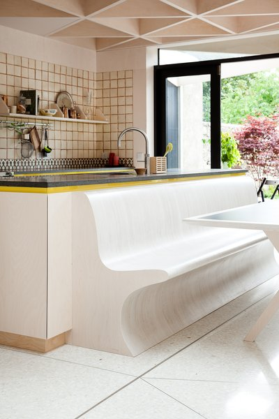 #seatingdesign #seating #kitchen #bench #biomorphic #interior #inside #indoor #tile #Victorian #Dublin #Ireland  Photo courtesy of Alice Clancy  100+ Best Modern Seating Designs by Dwell