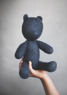 Afteroom's wool Teddy is completely made by hand and embodies the hopeful and cheerful purpose of the project.