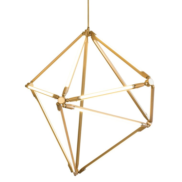 #gold #chandelier #lighting #modular #thin #LED #1970s   Designed by Bec Brittain