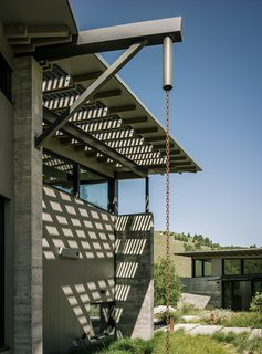 Retirement Never Looked Better and More Sustainable - Photo 2 of 10 - Butterfly House, designed by Feldman Architecture for David and Suzanne Rinaldo in California's Monterey County, is made up of three discrete structures separated by walkways. The distinct folds in the roofs are utilized for rainwater catchment.