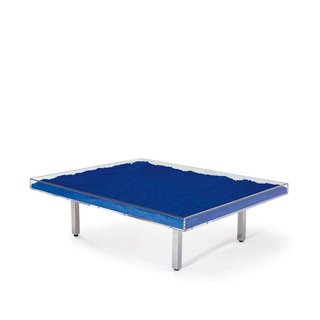 Coffee Tables That Would Make Yves Klein Proud - Photo 1 of 6 - Table Bleue by Yves Klein    Filled with International Klein Blue pigment, the table is among the most famous artist-designed pieces of furniture in the world.