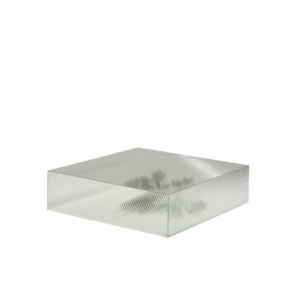 Coffee Tables That Would Make Yves Klein Proud - Photo 6 of 6 - Reeded table by Staffan Holm  Textured glass is the secret behind this block's seemingly rippling surface. A hollow core enhances the moiré effect.