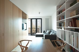 The Moscow Minimalists - Photo 5 of 6 - The Wood Box Apartment by Crosby Studios.