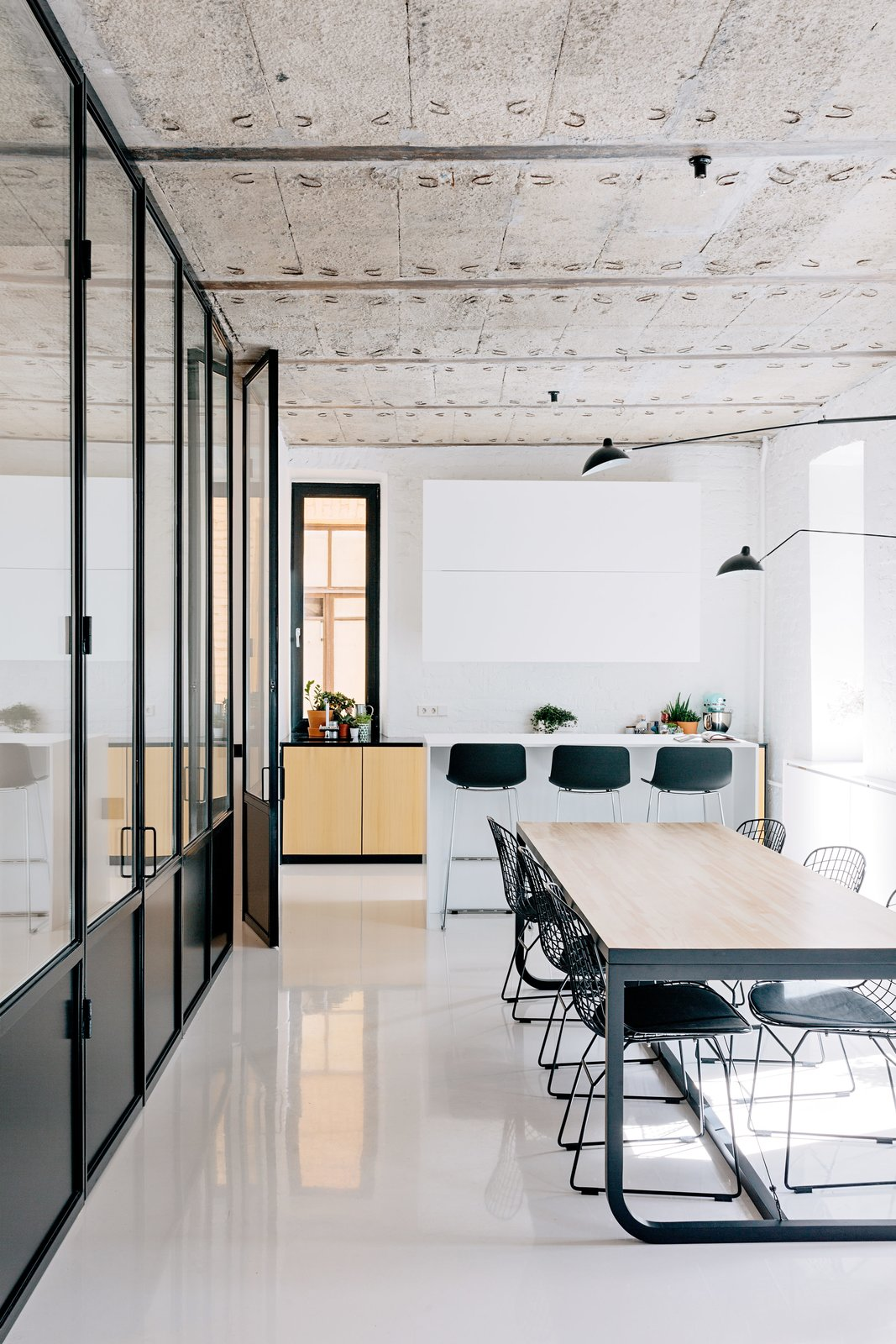 The Black and White Apartment by Crosby Studios.  Lounge by Jim Tattersall from The Moscow Minimalists