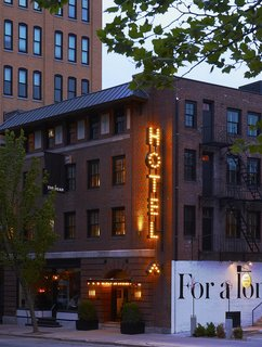 This Boutique Hotel Loves its City Like No Other - Photo 2 of 14 - Before its current incarnation as a design hotel, the structure had a scandalous past. Built in 1912 by an Episcopalian church, it formerly housed a strip club and a music venue, among other businesses.