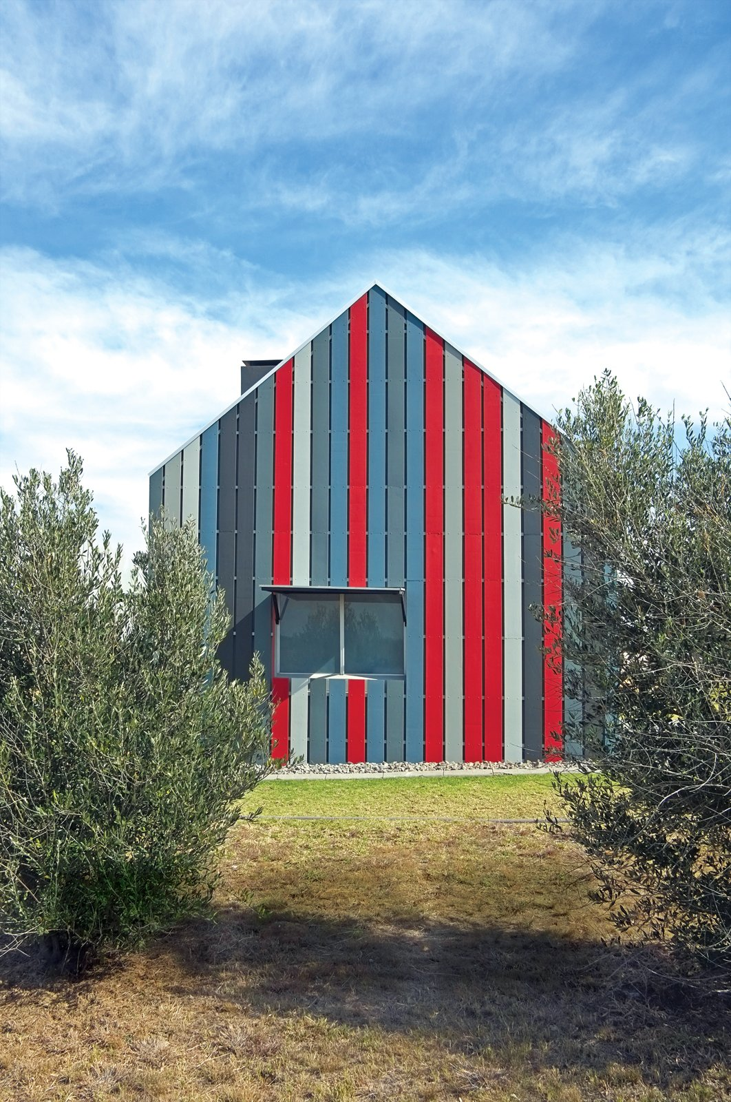 #outdoor #home #renovation #color #red #gray #clash   36+ Interior Color Pop Ideas For Modern Homes by Dwell