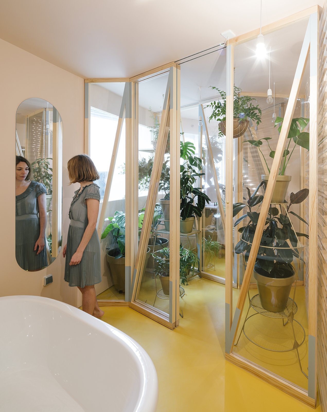 Photo 1 of 7 in A Quirky Renovation Brings an Indoor Garden to the Center of Madrid