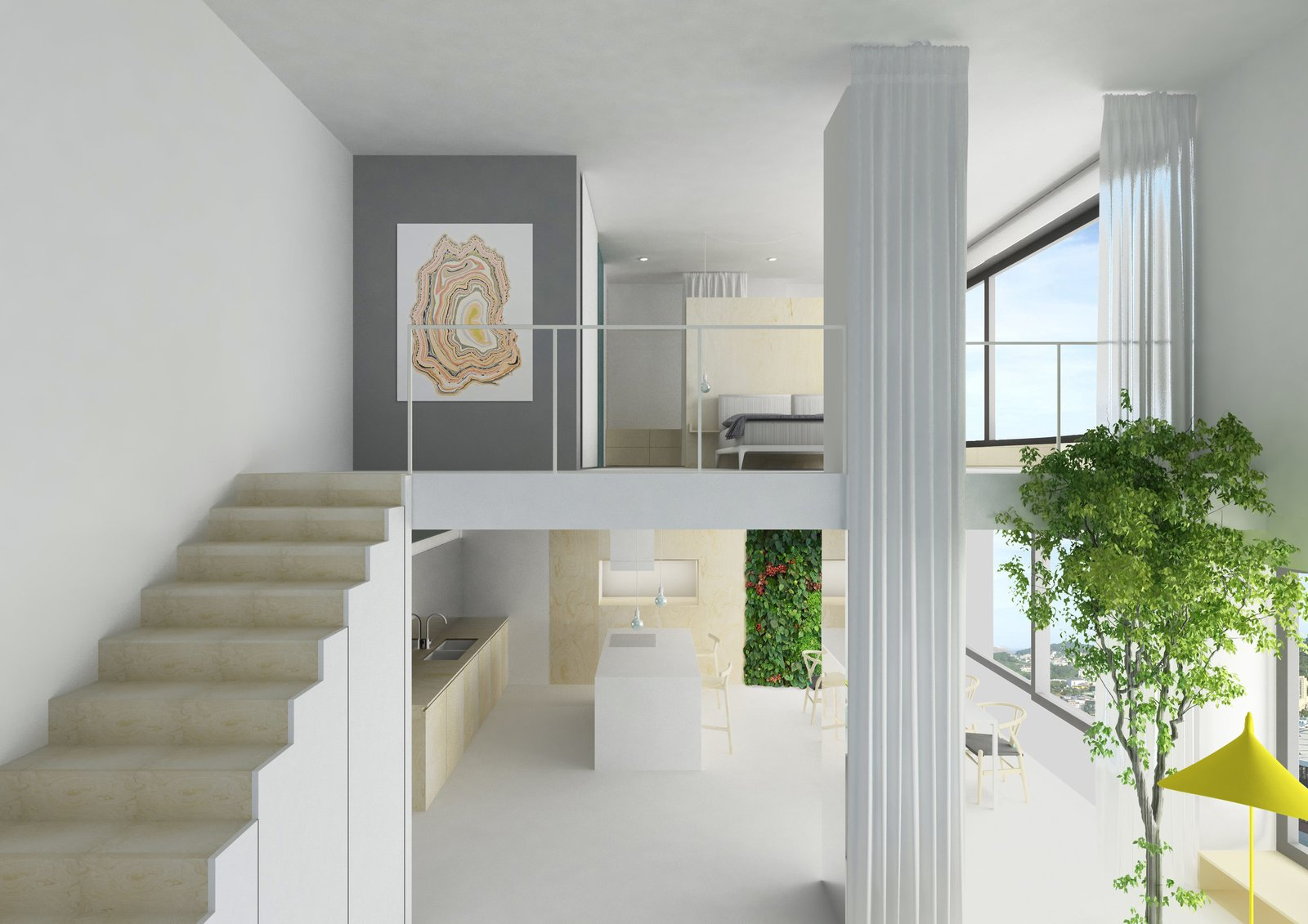 The two levels of the apartment designed by Herrenknecht in Zurich. 127+ Inspiring Interior Ideas by Dwell