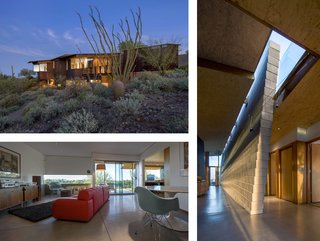 A Look Back at Our Scottsdale Home Tours - Photo 1 of 5 - This residence by Will Bruder Architects echoes its surroundings with a series of abstract, canyon-like walls and spaces that emerge as metaphoric geological gestures. Its purple-and-black patinaed copper and acid-etched metal-clad frame walls complement the undisturbed Sonoran Desert.