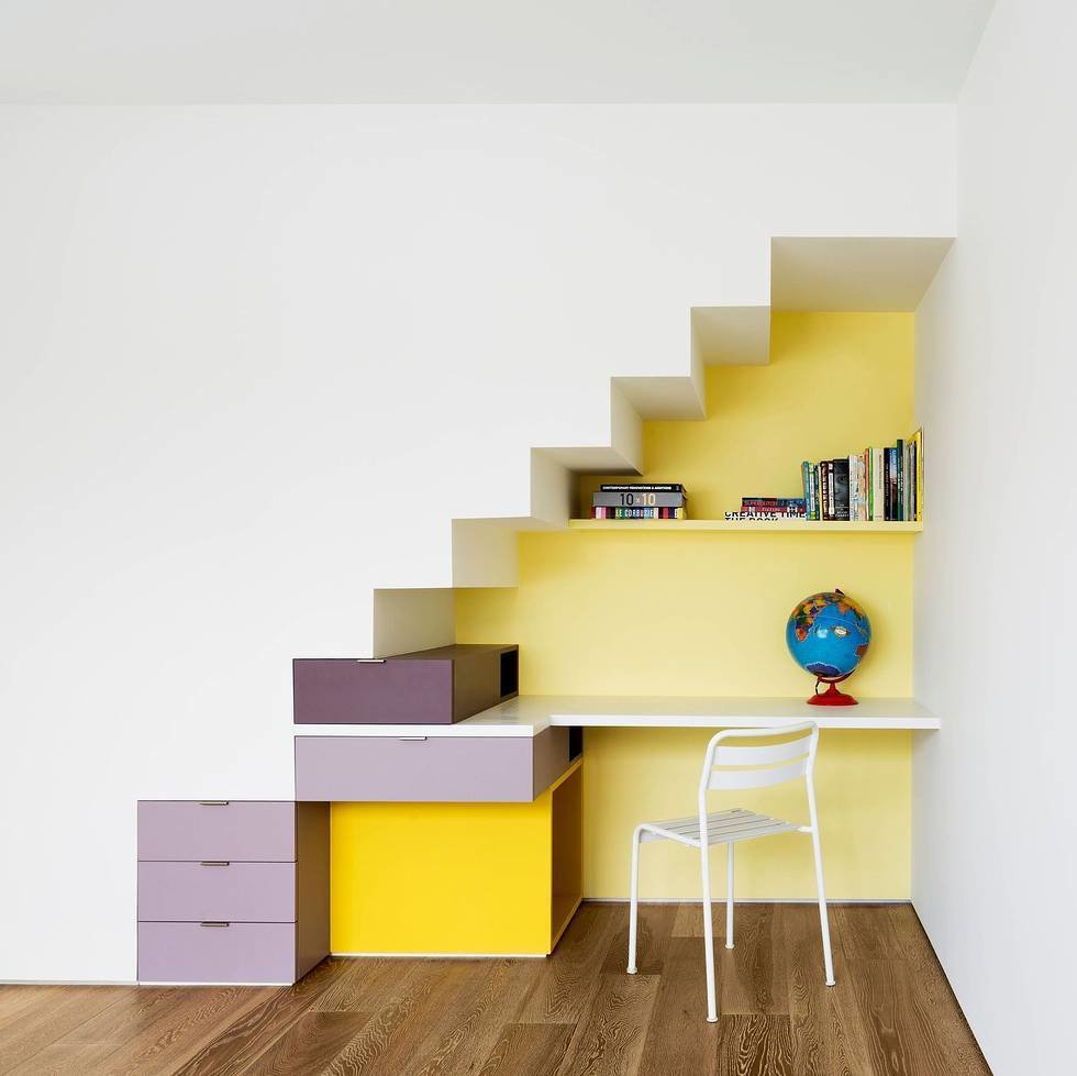 #modern #home #office #color #yellow #corner  Photo by Michael Moran     25 Bold Ways to Decorate with Yellow - Photo 3 of 25