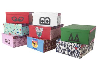 The line also includes stationery and other paper products, including a line of decorative boxes that sell for $10.99 each.