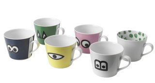 At $4.99, the collection's porcelain mugs are a cheery way to kick off the day.