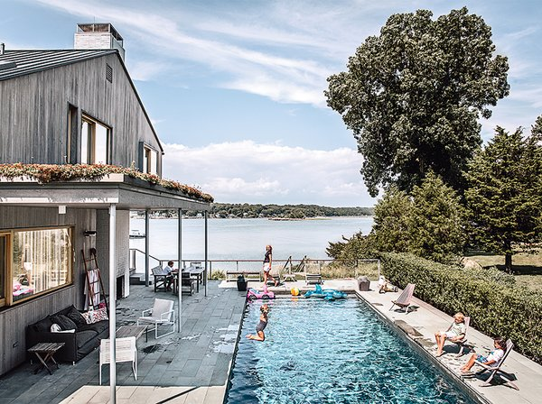 Tagged: Outdoor, Back Yard, Front Yard, Large Pools, Tubs, Shower, Side Yard, Trees, and Swimming Pools, Tubs, Shower.  Photo 1 of 13 in Seaside Views Make This Vacation Home a Relaxing Retreat