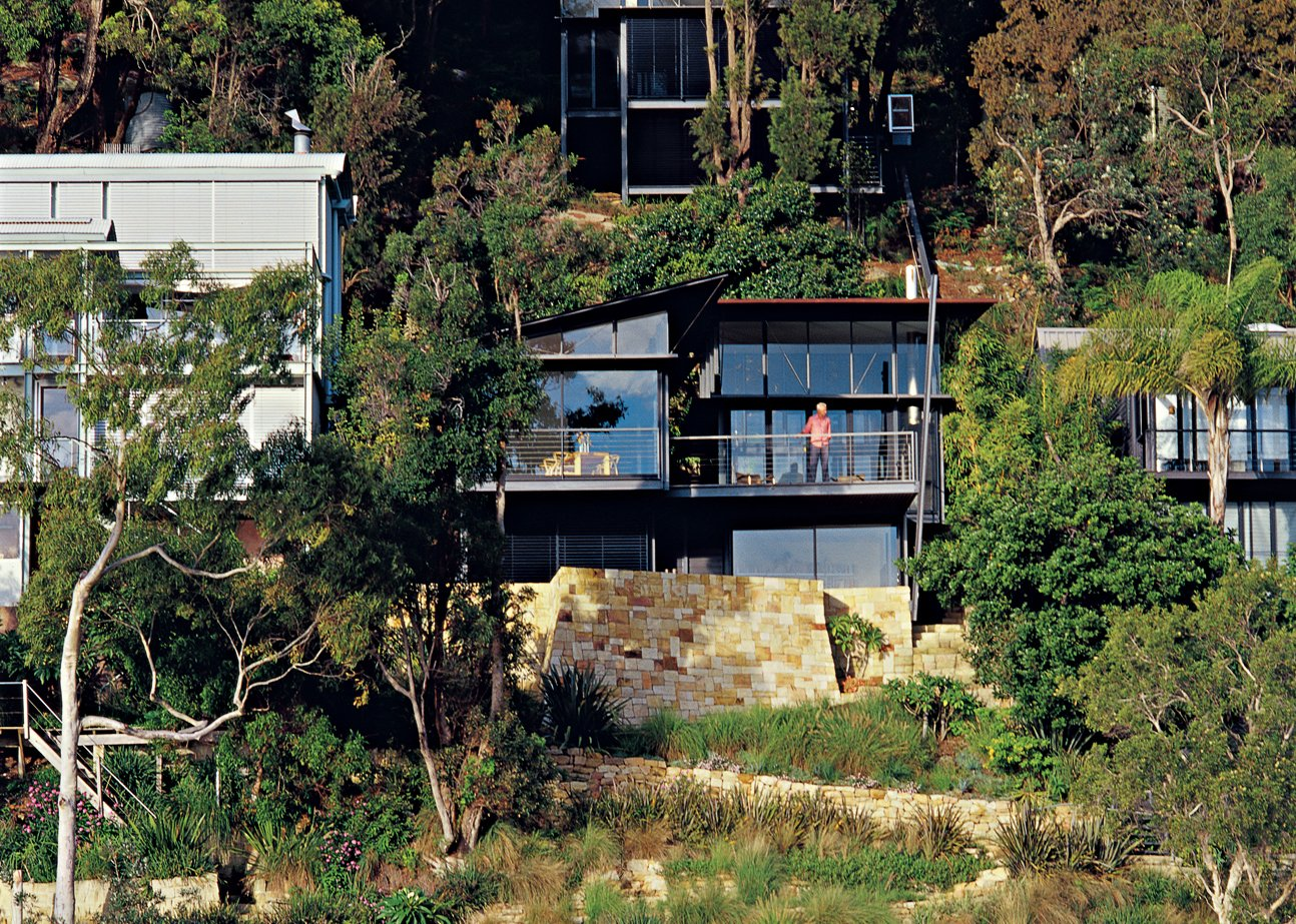 Photo 1 of 11 in Three Glass-and-Copper Pavilions Conquer the Cliffs