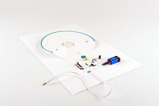 The simple design uses paper and basic electronics.