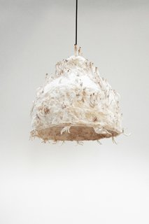 Grow Your Own Designs Like Jonas Edvard - Photo 1 of 6 - Jonas Edvard's MYX lamp is made from plant fiber and fungus grown over the course of two to three weeks.