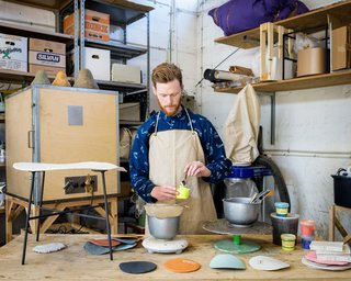 Grow Your Own Designs Like Jonas Edvard - Photo 3 of 6 - The designer working in his studio.