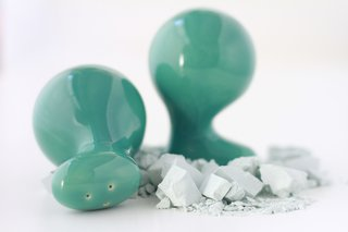 The Ceramicist That Mixes Organic Forms and Technique Together - Photo 3 of 5 - Ceramic salt and pepper shakers by the designer.