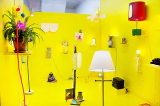 There Are No Random Knickknacks at This Dollar Store - Photo 1 of 5 - At 99¢ Plus, Zoe Alexander Fisher curated The Lamp Show, which featured a range of lighting options, ranging from the functional to the conceptual.