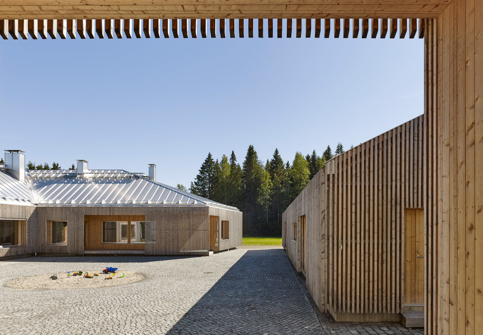 """Architect Anssi Lassila de-signed House Riihi to run on Control Intelligence's Talomat system, which enables the build-ings to be powered by battery. """"Often, we don't know that there has been a power outage,"""" says resident Petri Mäkelä, """"since the lights haven't even flickered."""" By designing the automation system and the house simultaneously, Lassila had maximum control over its integration. Tagged: Exterior, House, and Wood Siding Material.  Photo 2 of 8 in This Battery-Powered House Never Runs Out of Juice"""