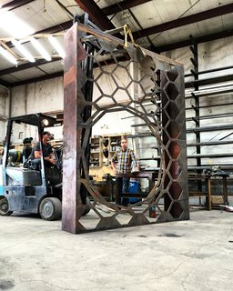This Prototype Modular System Could Bring Green Walls to Parking Garages - Photo 4 of 5 - The green wall's 148 cells are supported by a10-foot-tall, 25-foot-longmetal frame.