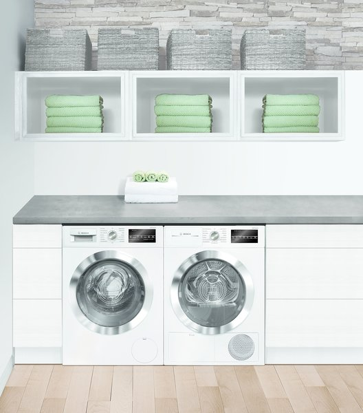 """Together, Bosch's sleek 24"""" kitchen and laundry suites address the trend toward smaller living by extending modern, European-style design to even the closest quarters."""