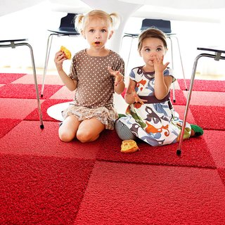 Ditch the Area Rug: This Easy, Modular Carpet System Has Serious Green Cred - Photo 6 of 6 - The tiles are designed to be impervious to moisture, and spills and stains won't seep through the carpet. For more information on FLOR, head to the brand's website.