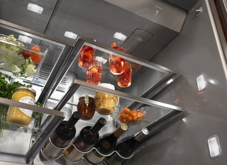 """7 Kitchen Technologies to Watch - Photo 2 of 7 - <span style=""""line-height: 1.8;"""">Under-shelf LED lighting improves visibility. The refrigerator is equipped with systems that manage humidity and airflow to keep food fresh and control odors.</span>Add a caption"""