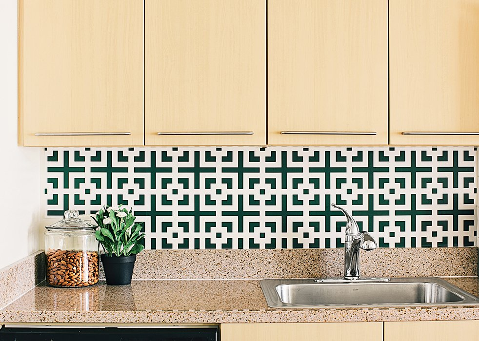 Another increasingly popular option is kitchens that are not static, but can be changed over time. Self-adhesive coverings, like the Squares Squared wallpaper by Chasing Paper ($30 per four-by-two-foot panel), can be swapped out seasonally. New Kitchen Materials You Should Know About - Photo 8 of 8