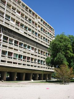 UNESCO Adds 17 Le Corbusier Buildings to Its Storied Ranks - Photo 8 of 8 - Unité d'Habitation de Marseilles is an example of the brise-soleil used by Le Corbusier. By setting the windows in a recessed grid, the building reduces heat gain. The colors indicate different apartment units.