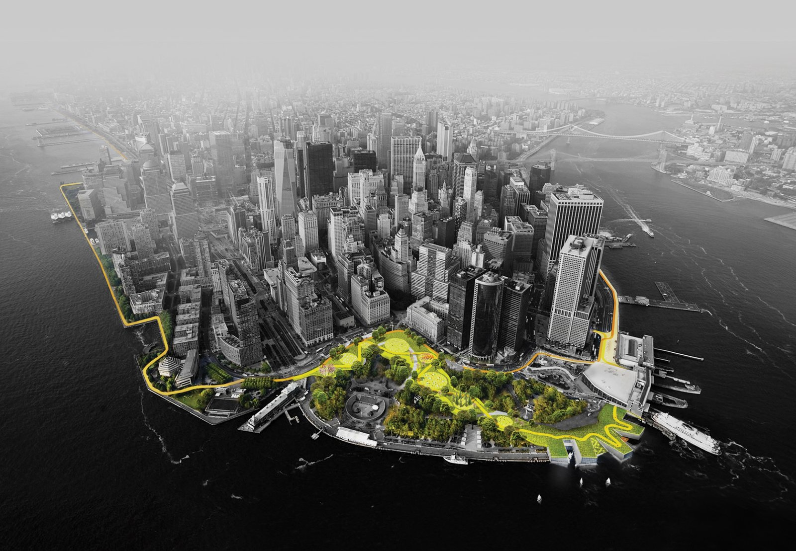 Photo 1 of 2 in A Megastructure Will Guard Manhattan From Superstorms