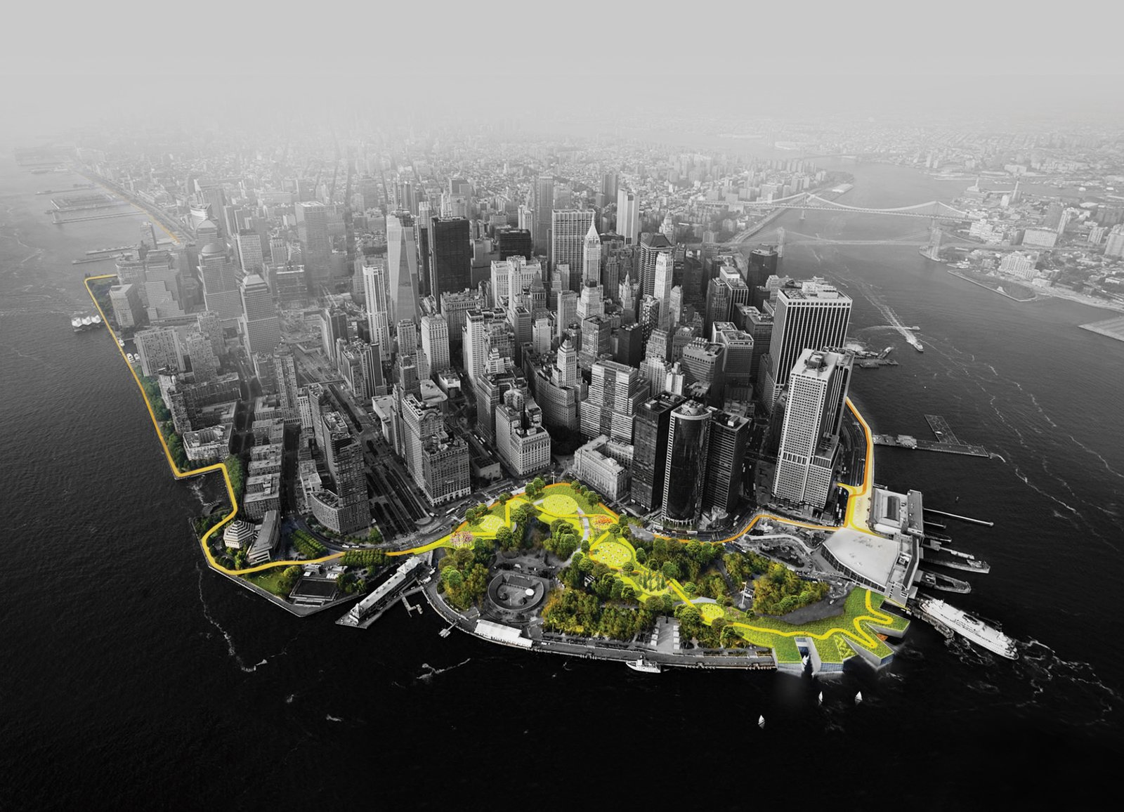 Photo 2 of 2 in A Megastructure Will Guard Manhattan From Superstorms
