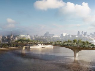 Gardens Will Grow Over Water - Photo 1 of 1 - New projects by Thomas Heatherwick,  including London's Garden Bridge, are greening the urban environment, but not without controversy.