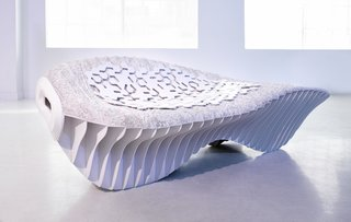 Mushrooms: Building Blocks of the Future? - Photo 1 of 2 - Recent innovations in mycelium engineering include Terreform ONE's waste-free, pollution-free mushroom chair.