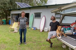 "Salvaged Outdoor Gear Gets New Life, Thanks to a Surfer-Designer Duo - Photo 2 of 8 - ""Mike and I have worked on a few collaborative projects together over the years, and through them we identified mutual visions for a brand that existed for the right reasons and had a core belief where environmentally responsible production is key."" says Eales. ""Mike ran a bag manufacturing company, which solely used upcycled yacht sail cloth as the material. With the creative direction I bring to the table and the combination of both our business knowledge, we envisioned a brand that appealed to a broader market. The idea of Sealand was born early 2015."""