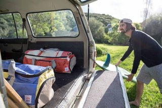 Salvaged Outdoor Gear Gets New Life, Thanks to a Surfer-Designer Duo - Photo 7 of 8 - Eales tells us the Sealand products are headed to France and New Zealand in 2016, and that he has been working on designs for some hemp and cotton apparel.