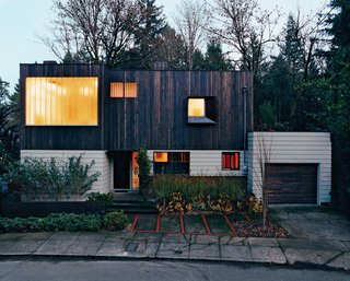 Explore 12 of Our Favorite Homes in Portland - Photo 1 of 12 - After searching in vain for an empty lot to build on, architect Brian White settled for a nondescript 1960s ranch that nobody else wanted—and proved that building from the ground up doesn't always start on the ground.