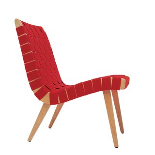 Jens Risom's Family Reflects on the Danish Modern Giant at 100 - Photo 1 of 2 - The lounge chair Risom designed for Knoll in 1943, at the height of wartime rationing, used discarded parachute straps for its webbing. When Knoll reintroduced it in 1994, Risom gave a number of the chairs to family members
