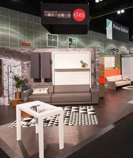 From the Show Floor and Beyond: Dwell on Design 2016 - Photo 3 of 18 - Resource Furniture, a pioneer in bringing small-space solutions to the American market, showcased pivoting pieces and other design-forward products.