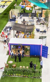 From the Show Floor and Beyond: Dwell on Design 2016 - Photo 4 of 18 - Rows of booths and hangouts presented attendees with points of discovery in the Dwell Outdoor section, which measured more than 30,000 square feet.