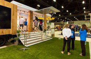 From the Show Floor and Beyond: Dwell on Design 2016 - Photo 7 of 18 - The Silicon Valley firm SunPower set up a walk-in experience to educate visitors about their sleek photovoltaic panels.