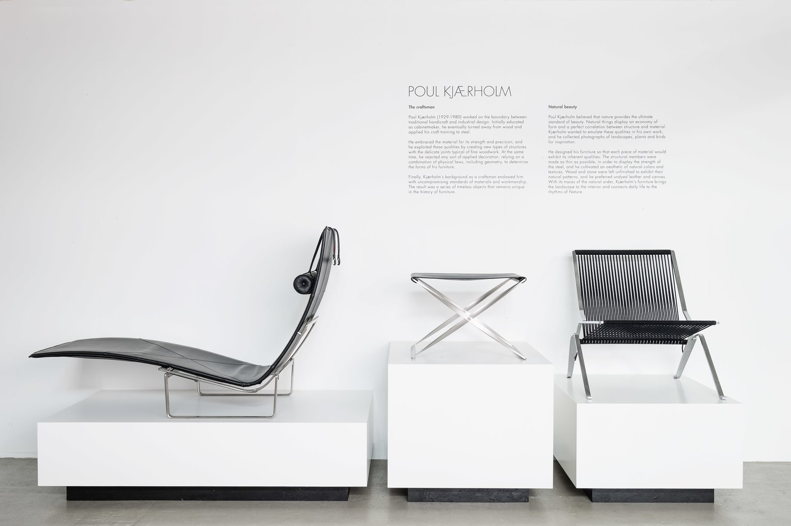 Exhibited between the PK24 and the PK25, the PK91 is Kjærholm's homage to the Danish designer Kaare Klint. As an influential professor at the Royal Academy of Fine Arts, Klint produced a number of important designs, most notably the Safari Chair in 1933. A stool by the professor made from the same material, canvas and wood, is said to have inspired Kjærholm to make his own folding stool in his preferred industrial materials. 10 Things You Didn't Know About Poul Kjærholm - Photo 10 of 11