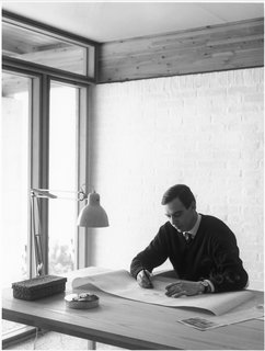 10 Things You Didn't Know About Poul Kjærholm - Photo 10 of 10 - Want to work like the master? The designer's set up included the PK11 armchair paired with the PK55 table.