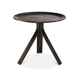 """<b>Side Table, $89.99.</b>Comprising a molded plywood tray top and a trio of powder-coated steel legs, this table was """"designed to make it seem like the top is floating,"""" says Deam."""