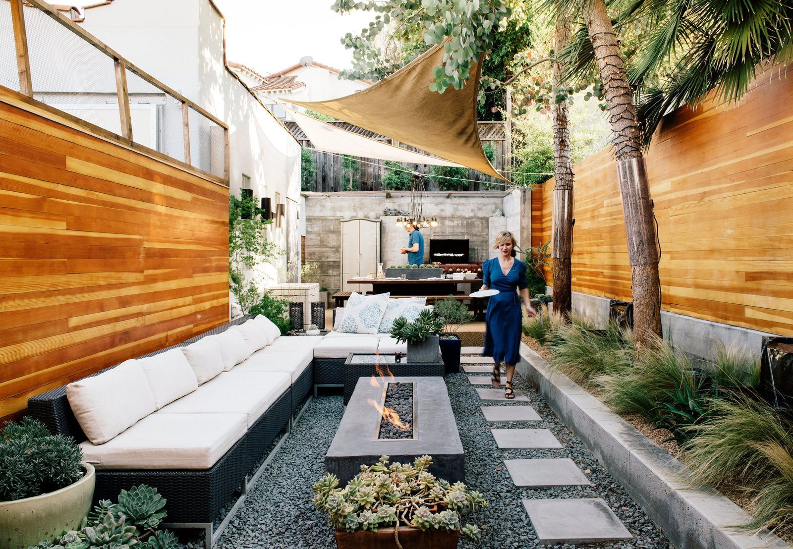 this backyard triumphs over trouble to become an oasis of calm dwell