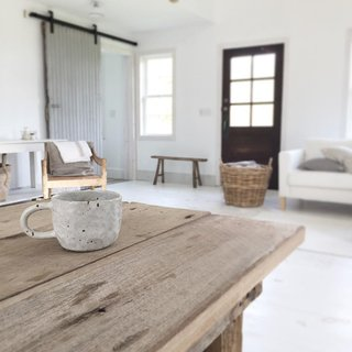 Instagram We Love: Modern-Rustic Goals - Photo 4 of 4 - While enjoying a cup of coffee, Wendricks captures a view of the living room.