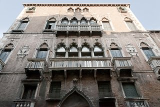 The building is located in Venice's city center, near Piazza San Marco.