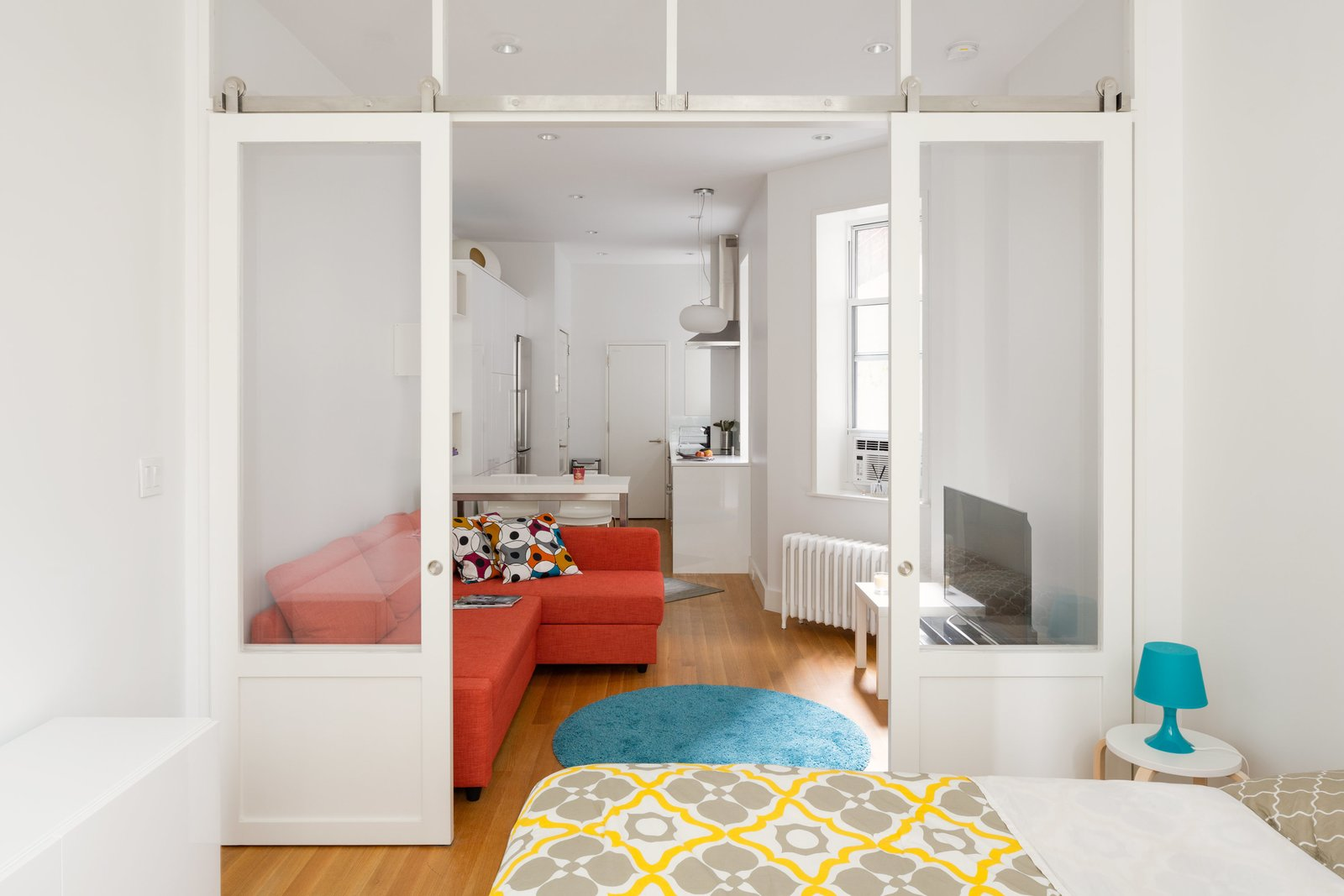 Photo 1 of 10 in This 390-Square-Foot Renovation Is Compact Yet Comfortable in Greenwich Village