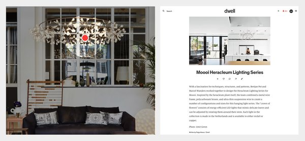 """Discover and learn more about products found in Dwell photos. If you see something in a photo that is not yet annotated, go ahead and comment on the photo: """"Hey @dwell what is this?"""""""
