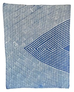 The Art of the Family Business - Photo 1 of 2 - Inyo, one of Block Shop's newest creations, is a baby quilt that's resist-dyed in rich indigo.